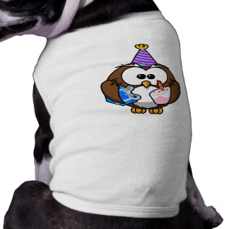 Búho de la fiesta de cumpleaños camisetas de mascota