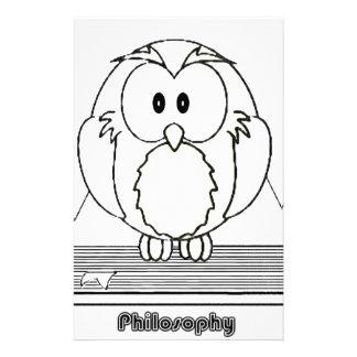 Búho de la filosofía del livro de COM de Filosofia Papeleria De Diseño