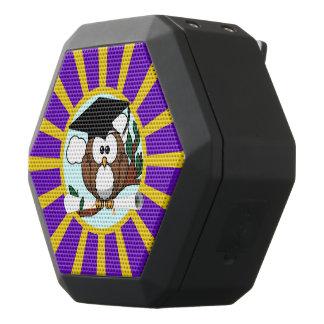 Búho de la graduación con colores de la escuela de altavoces bluetooth negros boombot REX