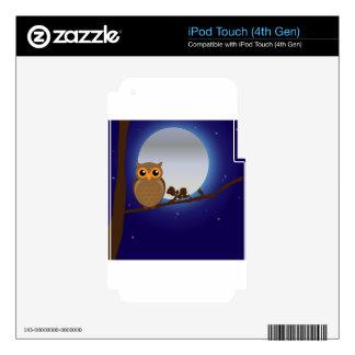 Búho de la Luna Llena Calcomanía Para iPod Touch 4G