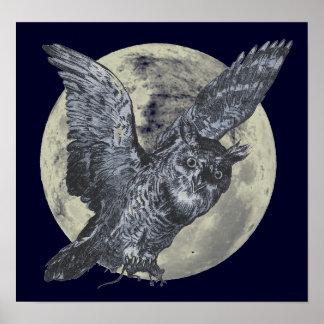 Búho de la Luna Llena Posters
