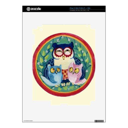 Búho de la madre calcomanía para iPad 2