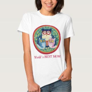 Búho de la madre la mejor mamá polera