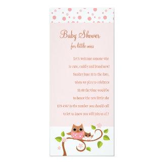 Búho de la mamá y del bebé invitación 10,1 x 23,5 cm