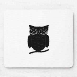 Búho de la mancha de tinta mouse pads