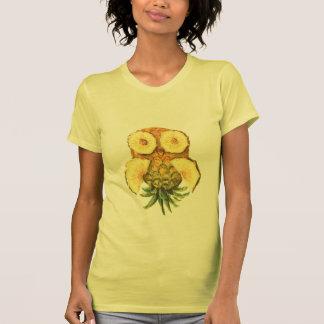Búho de la piña camiseta