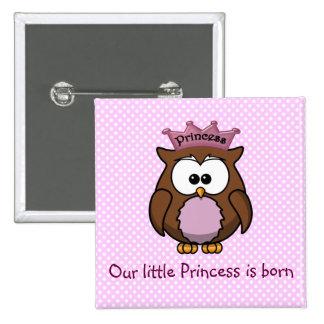 Búho de la princesa pin