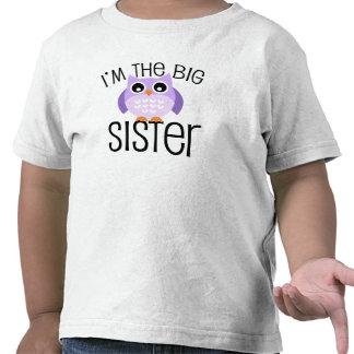 Búho de la púrpura de la hermana grande camiseta