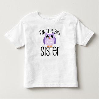 Búho de la púrpura de la hermana grande playera de bebé