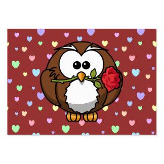 Búho de la tarjeta del día de San Valentín Tarjeta De Visita