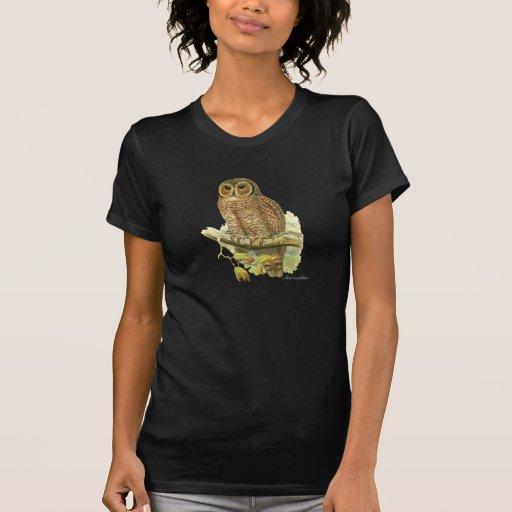 Búho de madera abigarrado (ocellata del Strix) Camiseta