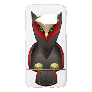 Búho de Ninja en verde rojo y Brown Fundas Samsung Galaxy S7