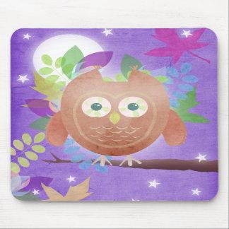 Búho de papel - púrpura - estera del ratón mousepad