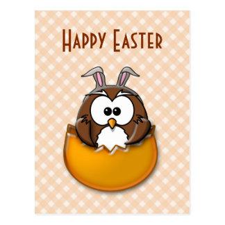 Búho de Pascua - naranja Tarjeta Postal