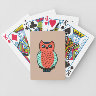 Búho de pitido baraja de cartas