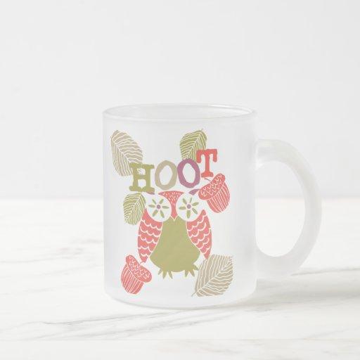 Búho de pitido rojo tazas de café
