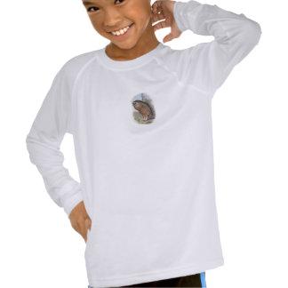 Búho de risa extinto de Whekau del vintage (cara Camisetas