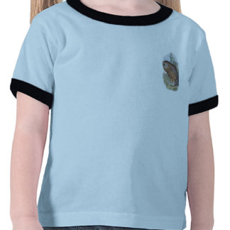 Búho de risa extinto de Whekau del vintage (cara Camiseta