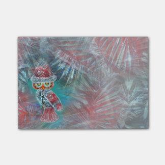 Búho de Santa de la moda del encanto del navidad Post-it® Notas