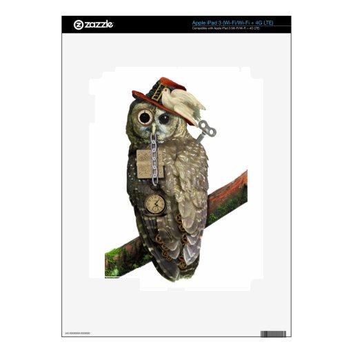 Búho de SteamPunk Pegatinas Skins Para iPad 3