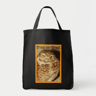 Búho de un buen bolso de Halloween del truco o de  Bolsas