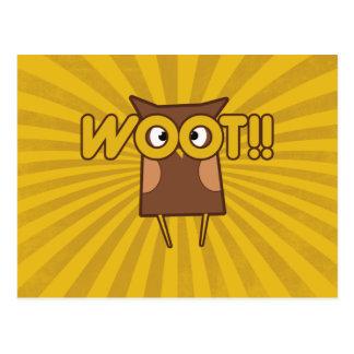 Búho de Woot Congrats Postal