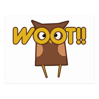 Búho de Woot Congrats Tarjetas Postales