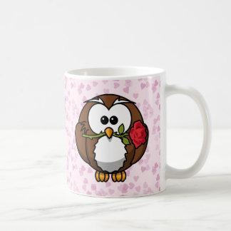 búho del amante taza de café