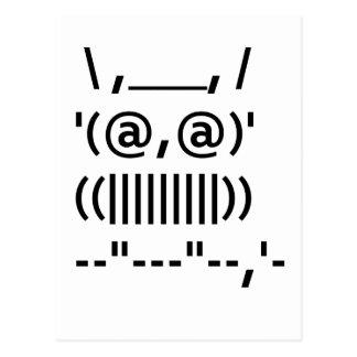Búho del arte del ASCII Tarjeta Postal