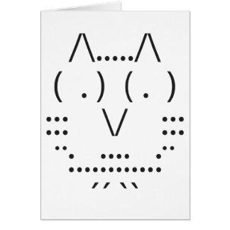 Búho del ASCII Tarjeta De Felicitación