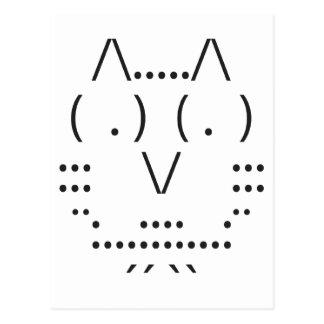 Búho del ASCII Tarjetas Postales