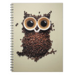 Búho del café cuaderno