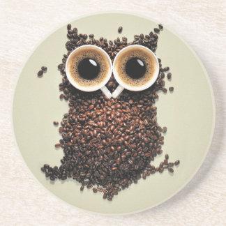 Búho del café posavasos para bebidas