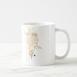 Búho del café taza clásica
