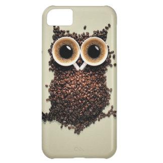 Búho del cafeína funda para iPhone 5C