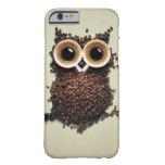 Búho del cafeína funda para iPhone 6 barely there