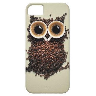 Búho del cafeína iPhone 5 fundas