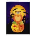 Búho del color anaranjado de la caída de Halloween