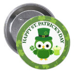 Búho del día de St Patrick con la cerveza verde Pin