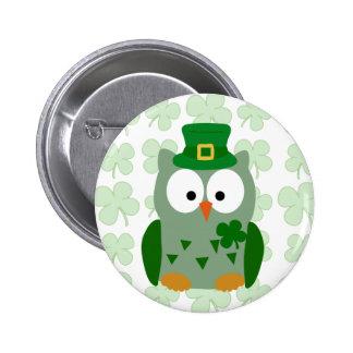 Búho del día de St Patrick Pin
