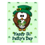 Búho del día de St Patrick Postal