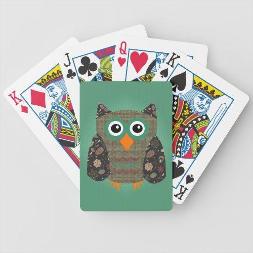 Búho del diseñador polvoriento barajas de cartas