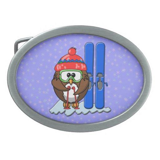búho del esquiador hebillas de cinturon