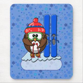 búho del esquiador tapete de raton