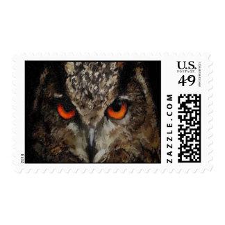 Búho del eurasiático del búho de Eagle del europeo Sellos
