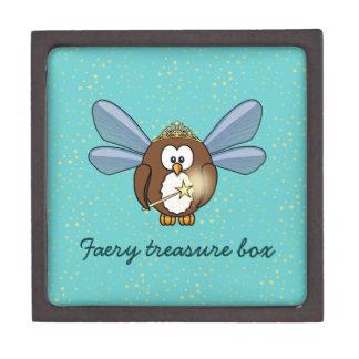 búho del faery cajas de regalo de calidad
