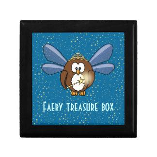 búho del faery caja de recuerdo