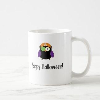 Búho del feliz Halloween en traje Taza De Café
