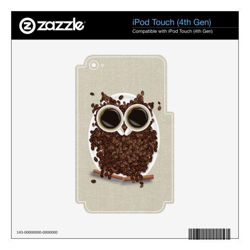 Búho del grano de café iPod touch 4G skin