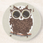 Búho del grano de café posavaso para bebida